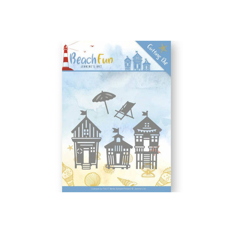 Dies Beach Houses 5 pc - Beach Fun - Jeanine's Art