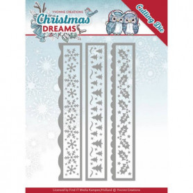 Dies Christmas Borders 3 pc - Christmas Dreams - Yvonne Creations