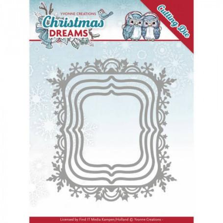 Dies Christmas Snowflake Rectancle 4 pc - Christmas Dreams - Yvonne Creations