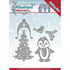 Dies Christmas Penguin 5 pc - Christmas Dreams - Yvonne Creations