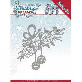 Die Bauble Ornament 1 pc - Christmas Dreams - Yvonne Creations