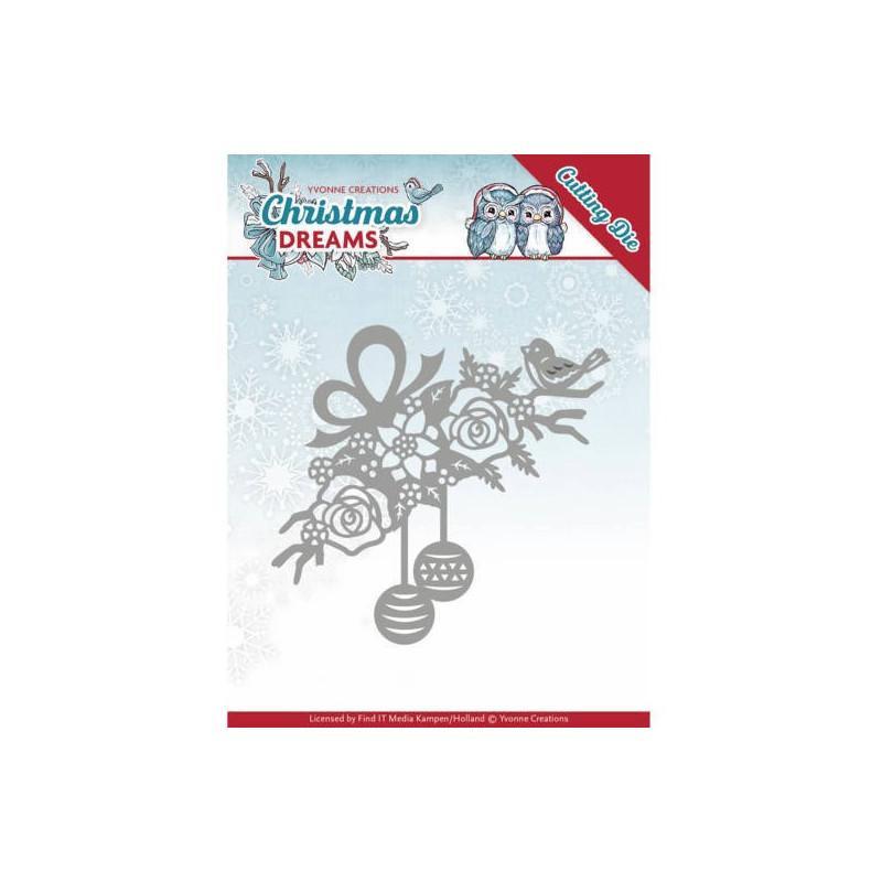 Die Bauble Ornament 1 pc - Christmas Dreams - Yvonne Creations