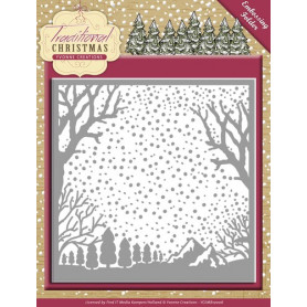 Classeur de gaufrage 124x124mm Traditional Christmas - Yvonne Creations Embossing folder