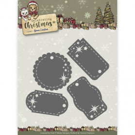 Dies Star Tags 4pc - Celebrating Christmas - Yvonne Creations