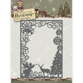 Die Scene Rectangle Frame - Celebrating Christmas - Yvonne Creations