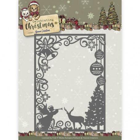 Die Scene Rectangle Frame - Celebrating Christmas - Yvonne Creations