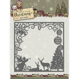 Die Scene Square Frame - Celebrating Christmas - Yvonne Creations