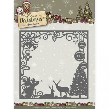 Die Scene Square Frame - Celebrating Christmas - Yvonne Creations