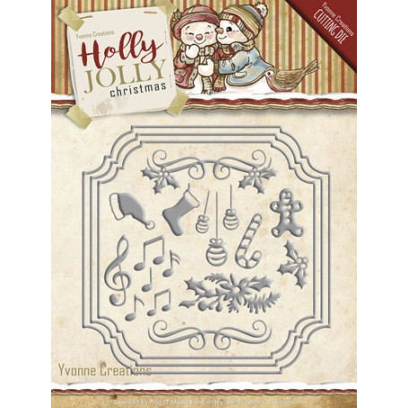 Die Holly Jolly Card Set - Holly Jolly Christmas - Yvonne Creations