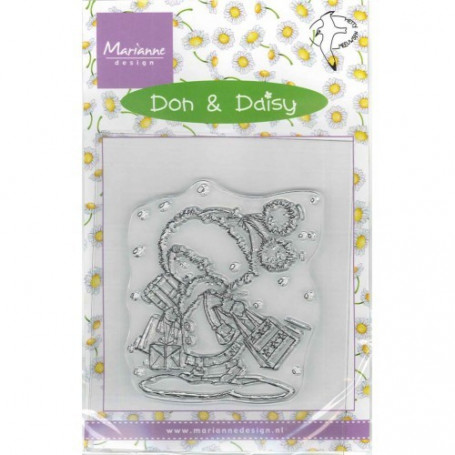 Tampon Don & Daisy Christmas Shopping - Marianne Design