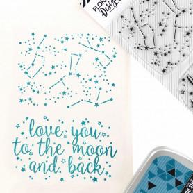 Tampons Dans les étoiles - collection Poussière d'étoiles – Florilèges Design