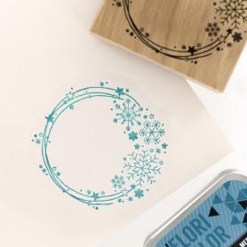Tampon bois Couronne de Neige - Poussière d'étoile - Florilèges Design