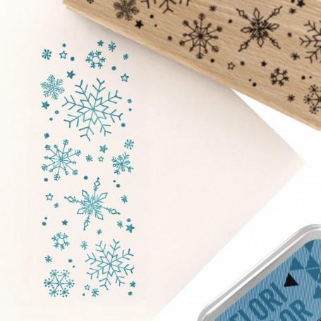 Tampon bois A gros flocons - Cosy Christmas - Florilèges Design