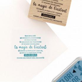Tampon bois Célébrer la magie - Cosy Christmas - Florilèges Design