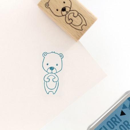 Tampon bois Mon petit ourson - Cosy Christmas - Florilèges Design