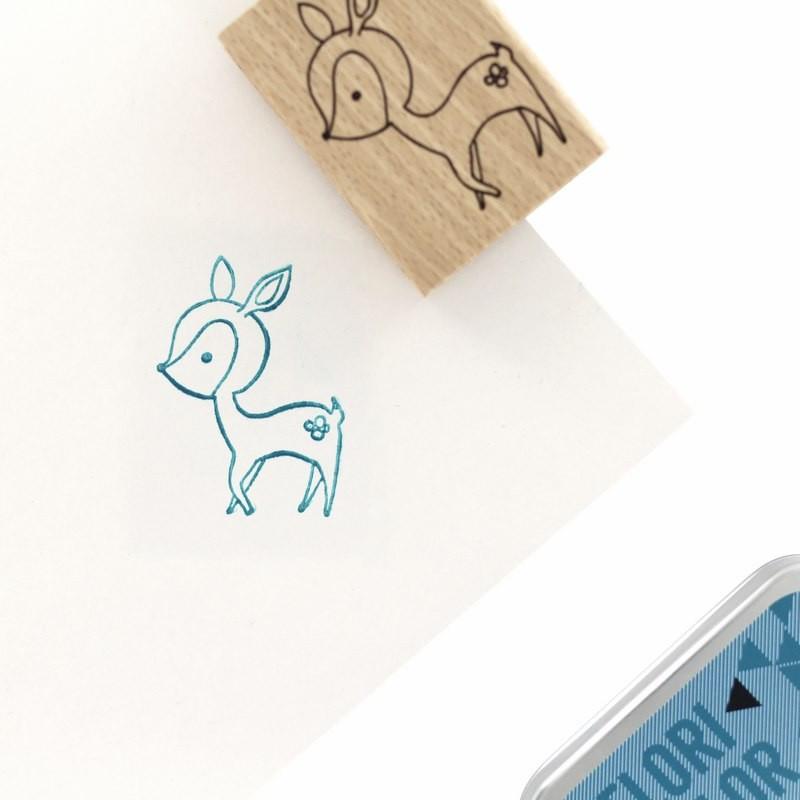 Tampon bois Mon petit faon - Cosy Christmas - Florilèges Design