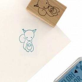 Tampon bois Mon petit écureil - Cosy Christmas - Florilèges Design