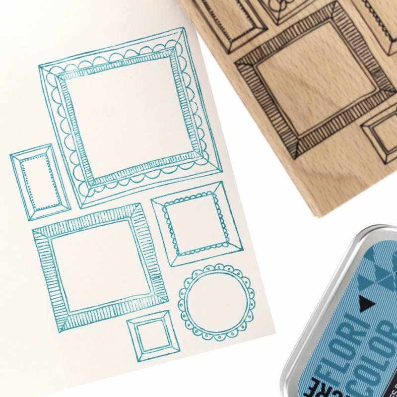Tampon bois Six cadres - Cosy Christmas - Florilèges Design