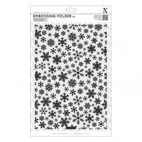 Classeur de gaufrage A4 Flocon de neige – Xcut – Embossing folder Snowflake Pattern
