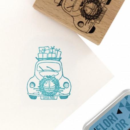 Tampon bois Livraison spéciale - Cosy Christmas - Florilèges Design