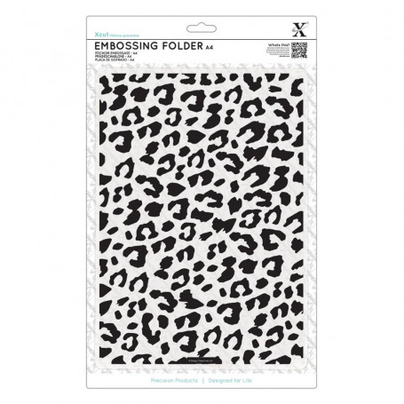 Classeur de gaufrage A4  Léopard – Xcut – Embossing folder Leopard Print