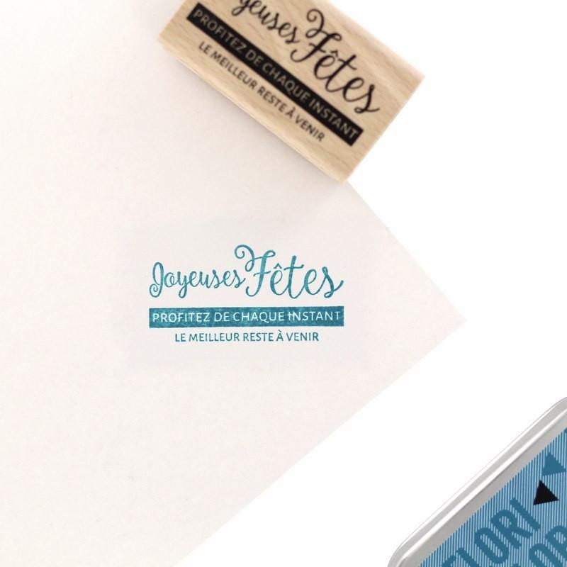 Tampon bois Le meilleur à venir - Cosy Christmas - Florilèges Design