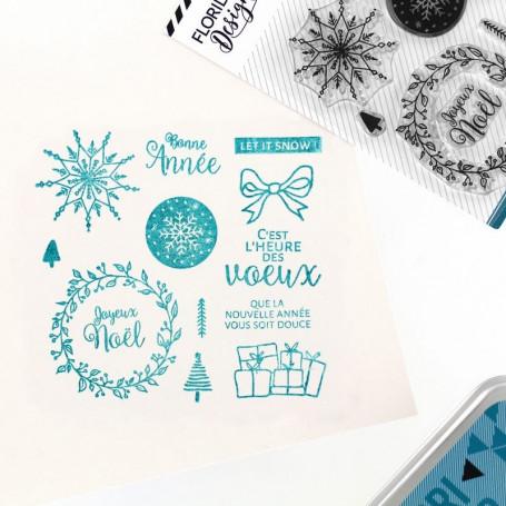 Tampons Voeux enneigés - Cosy Christmas – Florilèges Design