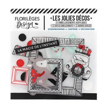 Décos Magie de l'instant 22 pc - Cosy Christmas - Florilèges Design