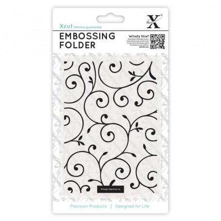 Classeur de gaufrage A6 Fioritures – Xcut – Embossing folder Delicate Flourishes