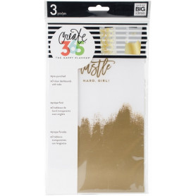 Dashboard Happy Planner Hustle Hard Girl Gold Foil - 3pc - Me & My Big Ideas