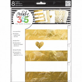 Dividers Happy Planner Create 365 Gold Foil - 8pc - Me & My Big Ideas