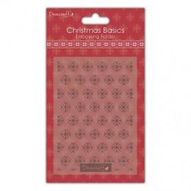 Classeur de gaufrage A6 Flocons – Docraft – Christmas Basics Embossing Folder