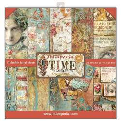 Set de papier 30x30 Time is an illusion 10 feuilles - Stamperia