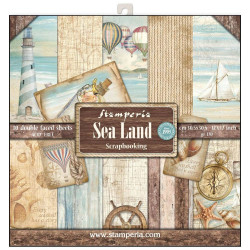 Set de papier 30x30 Sea Land 10 feuilles - Stamperia