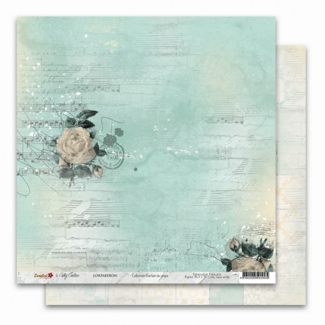 Papier 30x30 Parfum de roses 1 - 1 feuille - Lorelaï Design