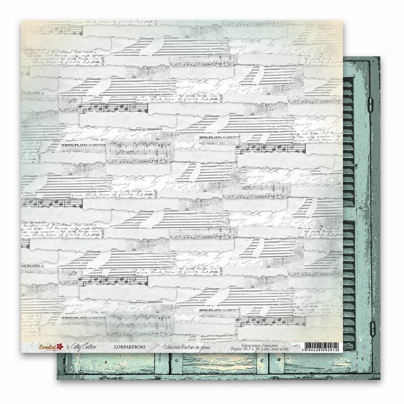 Papier 30x30 Parfum de roses 2 - 1 feuille - Lorelaï Design