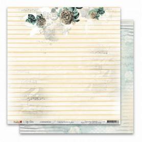 Papier 30x30 Parfum de roses 4 - 1 feuille - Lorelaï Design