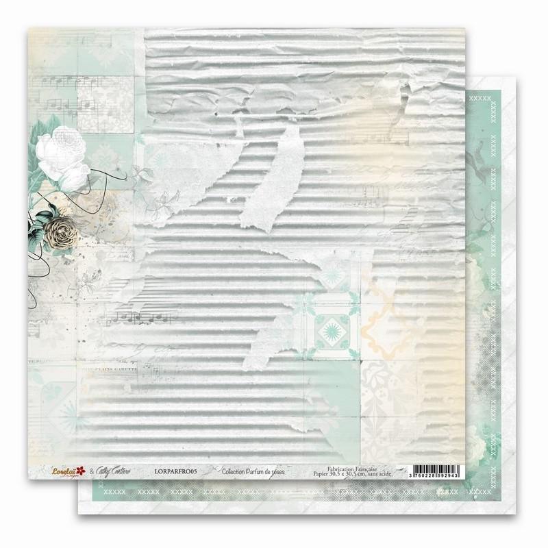 Papier 30x30 Parfum de roses 5 - 1 feuille - Lorelaï Design