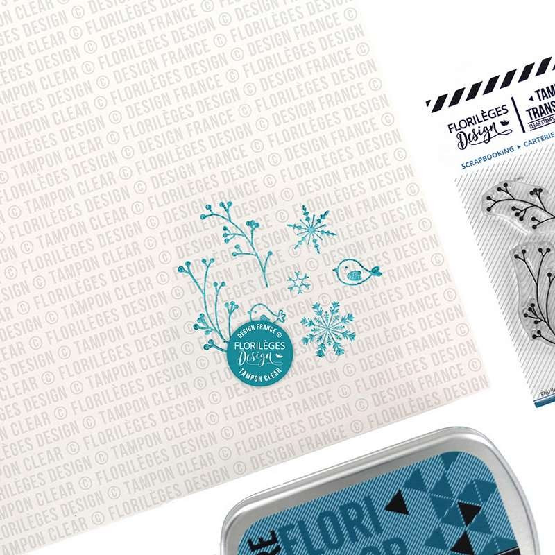Tampons Feuillages d'hiver - collection Les joies de l'hiver - Florilèges Design