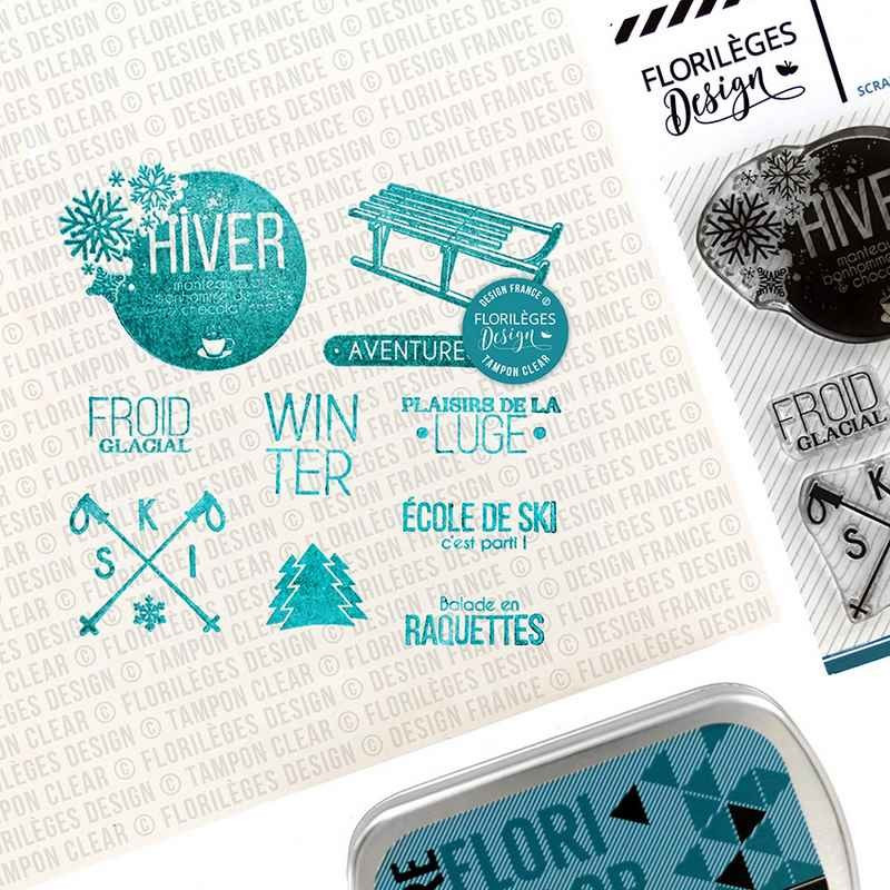 Tampons Sports d'hiver - collection Les joies de l'hiver - Florilèges Design