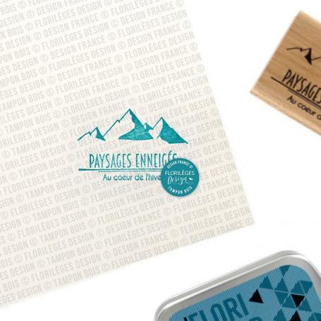 Tampon bois Paysages enneigés - Les joies de l'hiver - Florilèges Design