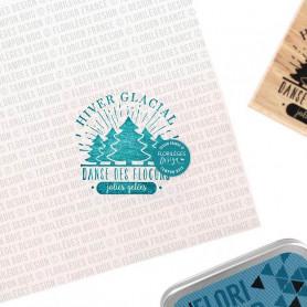 Tampon bois Hiver glacial - Les joies de l'hiver - Florilèges Design