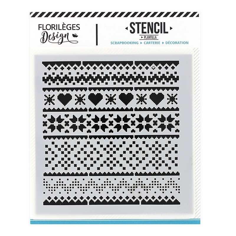 Pochoir Motifs d'hiver - Les joies de l'hiver - Florilèges Design