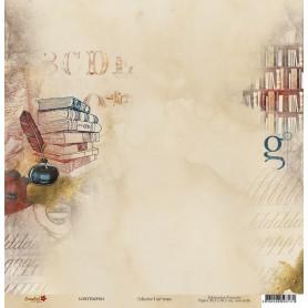 Papier 30x30 Il est temps 1 - 1 feuille - Lorelaï Design