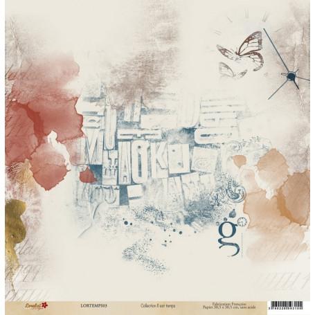 Papier 30x30 Il est temps 3 - 1 feuille - Lorelaï Design