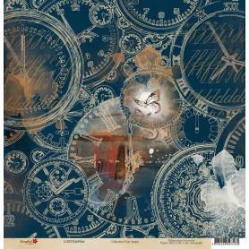 Papier 30x30 Il est temps 4 - 1 feuille - Lorelaï Design