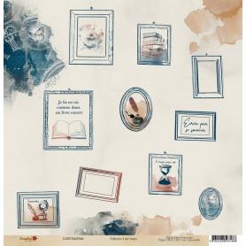 Papier 30x30 Il est temps 6 - 1 feuille - Lorelaï Design