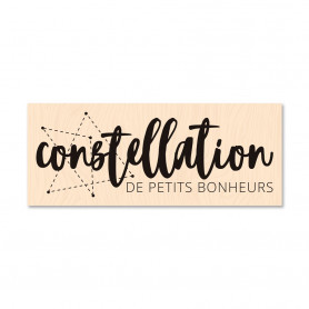 Tampon bois Constellation - Collection Carte Blanche - Les ateliers de Karine