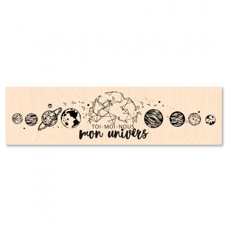 Tampon bois Mon univers - Collection Carte Blanche - Les ateliers de Karine