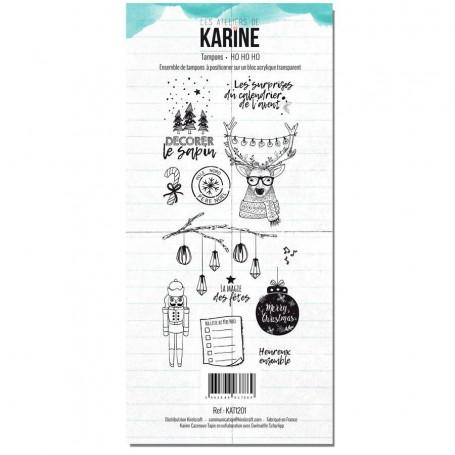 Tampons HoHoHo - Carte Blanche - Les ateliers de Karine